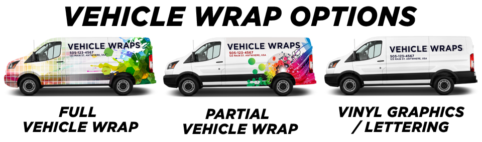 West Jordan Vehicle Wraps vehicle wrap options