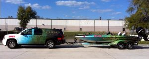 custom boat and truck wrap