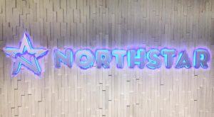 custom lighted lobby dimensional lettering sign